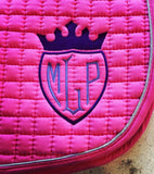 Shield Monogram Embroidered Saddle Pad