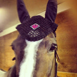 Embroidered Fly Bonnet - The Houndstooth Horse  - 3