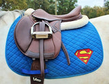Superman Saddle Pad - The Houndstooth Horse  - 1