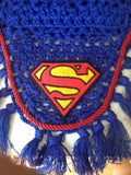 Superman Embroidered Fly Bonnet - The Houndstooth Horse  - 3