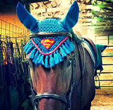 Superman Embroidered Fly Bonnet - The Houndstooth Horse  - 2