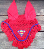 Superman Embroidered Fly Bonnet - The Houndstooth Horse  - 4