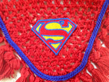 Superman Embroidered Fly Bonnet - The Houndstooth Horse  - 5