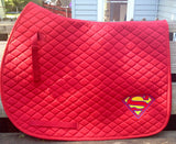 Superman Saddle Pad - The Houndstooth Horse  - 4