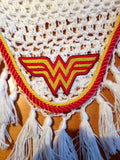 Wonder Woman Embroidered Fly Bonnet - The Houndstooth Horse  - 2