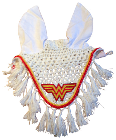 Wonder Woman Embroidered Fly Bonnet - The Houndstooth Horse  - 1