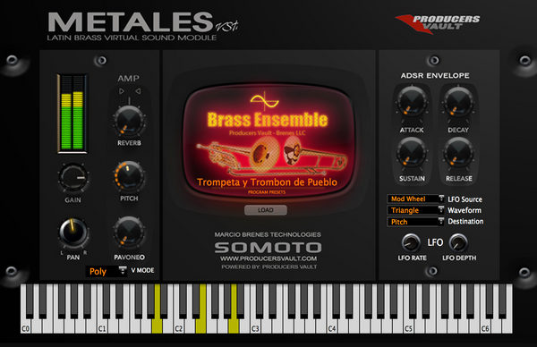 METALES VSTi 1.1 Latin Brass Virtual Sound Module for MAC OS