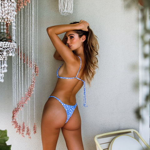 Cheeky Braided Bikini Bottom - Snow Leopard