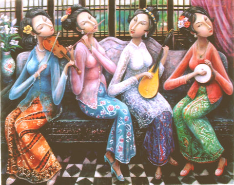 Nyonya Ladies by Chen Luo Jia