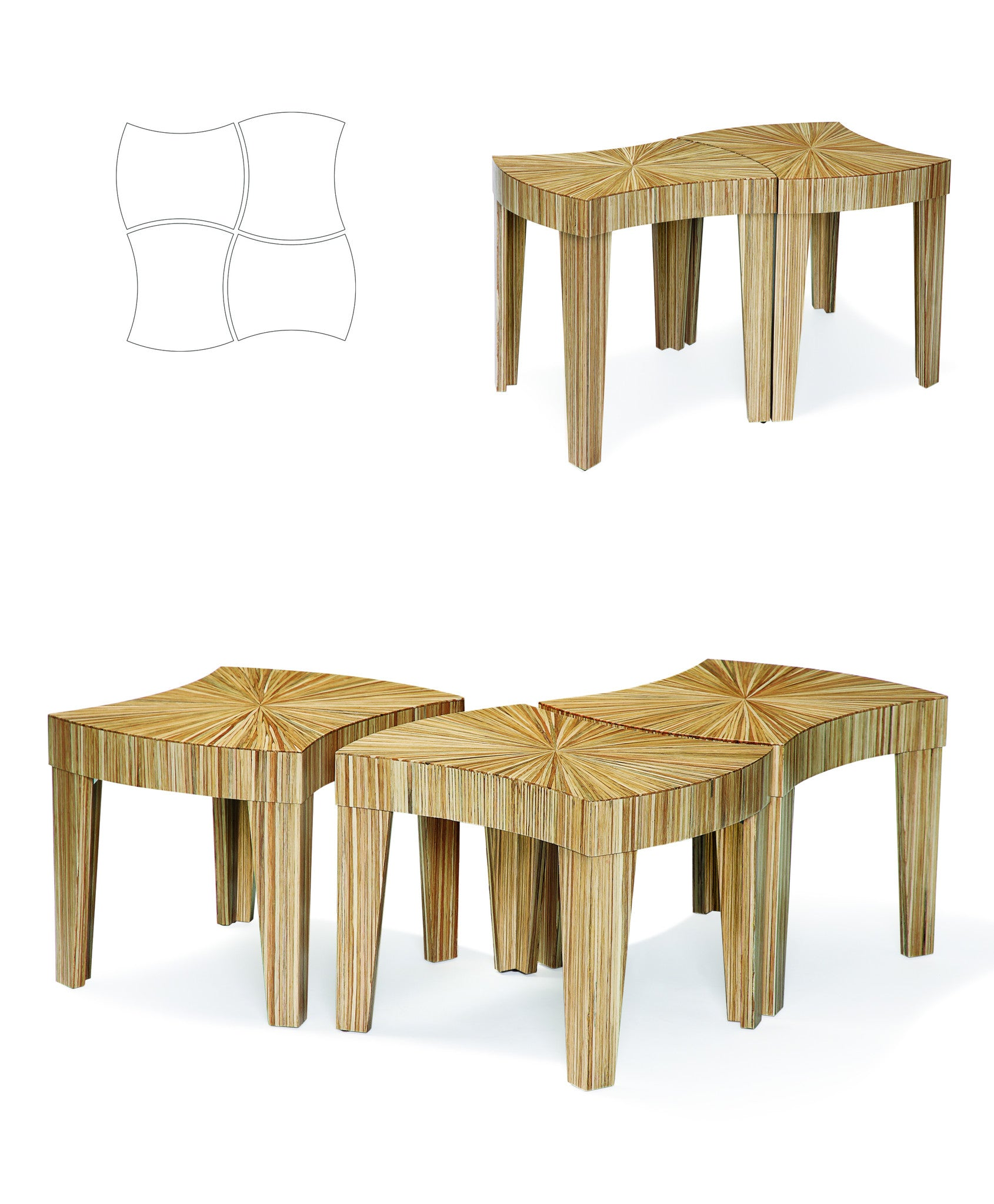 Jigsaw Modular Coffee Table Departures & Arrivals