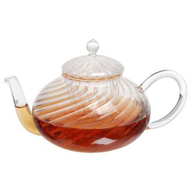 Twisted Glass Teapot