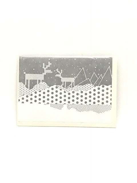 Letterpressed - Greeting card (Reindeer in Snow)