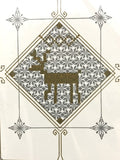 Letterpressed - Greeting card (Reindeer in Diamond)