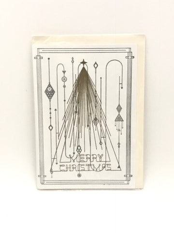 Letterpressed - Greeting card (Xmas Tree)