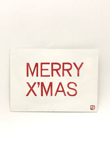 Letterpressed - Postcard (Merry Xmas)