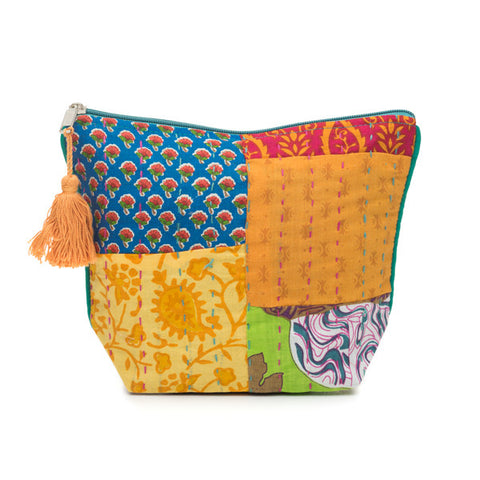 Kantha Splash Cosmetic Pouch (Assorted)