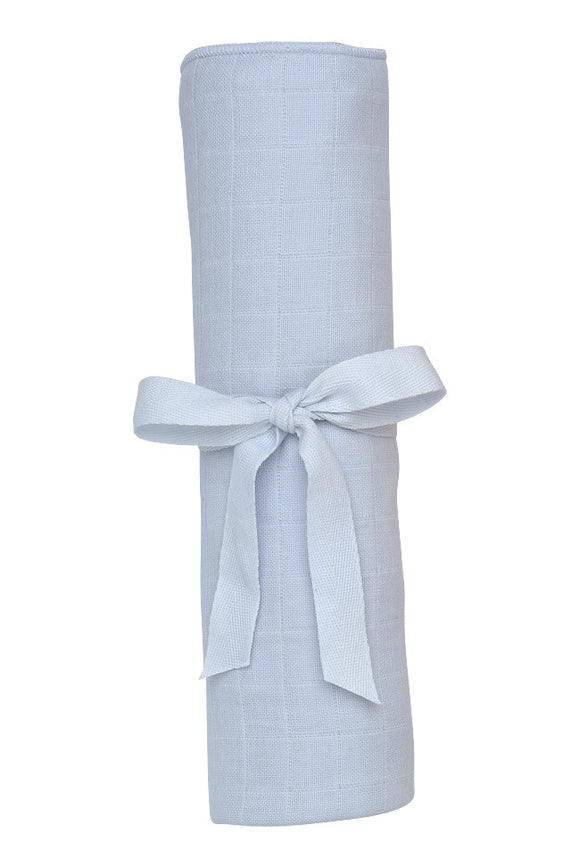 Muslin Swaddle Blanket, Ice Blue