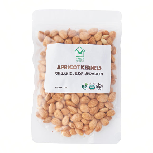 Raw Organic Sprouted Apricot Kernels (8oz./227g)
