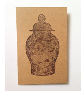 Letterpressed - Greeting card (Chinese Vessel, light)
