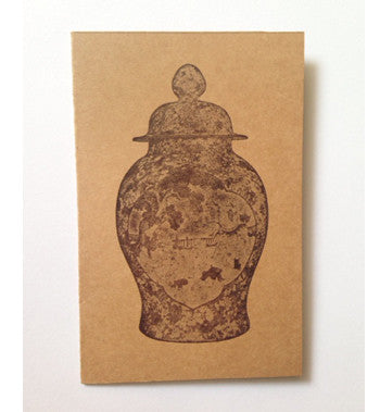 Letterpressed - Greeting card (Chinese Vessel, dark)
