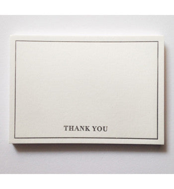 Letterpressed - Thank You cards