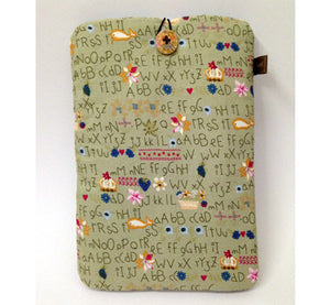 iPad Mini case - Alphabets (green)