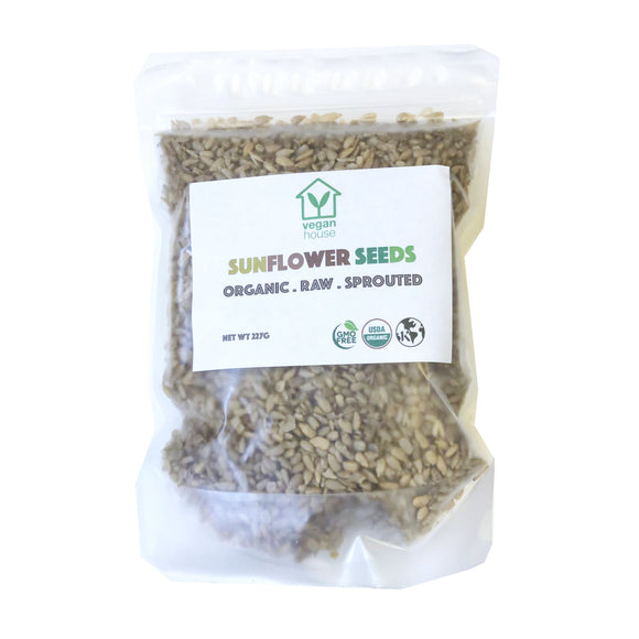 Raw Organic Sprouted Sunflower Seeds (8oz./227g)