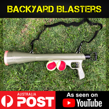 Load image into Gallery viewer, Backyard Blasters BazooK 9 tennis ball dog launcher toy gun