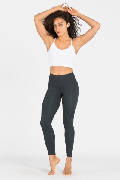 Dharma Bums Plain Charcoal Long Activewear & Yoga Legging - yApparel