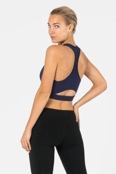 Dharma Bums Keyhole Crop Top Navy - yApparel