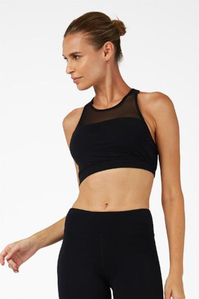 Dharma Bums Black Mesh Sports Bra - yApparel