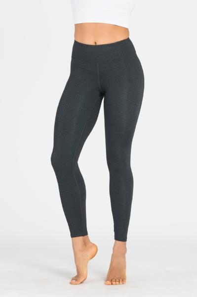 yApparel Plain Charcoal Long Activewear & Yoga Legging - yApparel