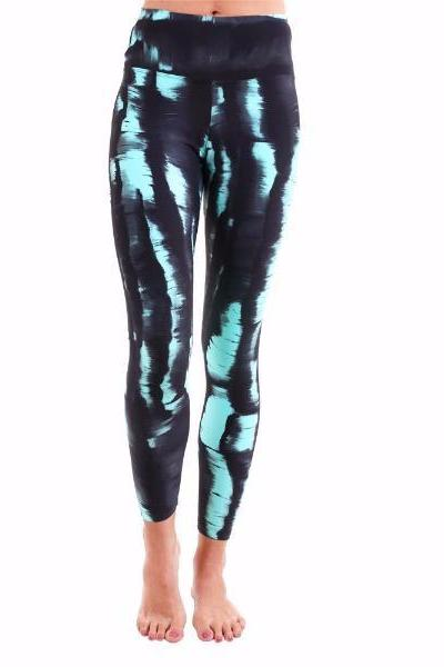 Liquido Active Night Light Printed Yoga Legging - yApparel