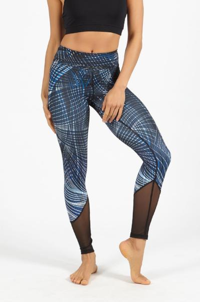 Dharma Bums Power Flow Legging - Synergy Blue - yApparel