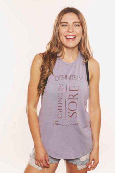 House Of Tens Definitely Calling In Sore Tomorrow Racerback - yApparel