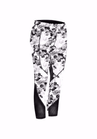 Laya Mesh Legging - White Flower