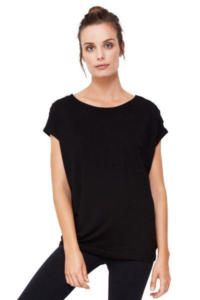 Dharma Bums Bamboo Black Luxe Layer Top - yApparel