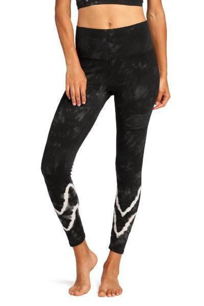 Electric & Rose Sunset Legging Chevron Wash Asphalt Whisper - yApparel