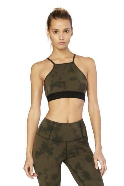 Electric & Rose Nova Sports Bra - Galaxy Wash Army - yApparel