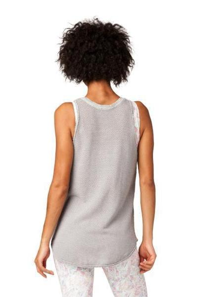 Electric & Rose Canal Mesh Tank - Thunder - yApparel
