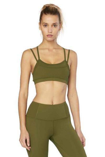 Electric & Rose Ophelia Double Layer Bralette - Army - yApparel