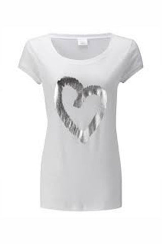 Easy Tee with Heart Print