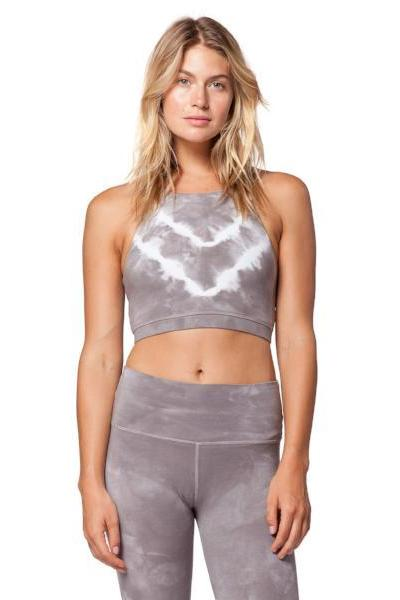 Electric & Rose Grayson Crop Chevron Wash Thunder Cloud - yApparel
