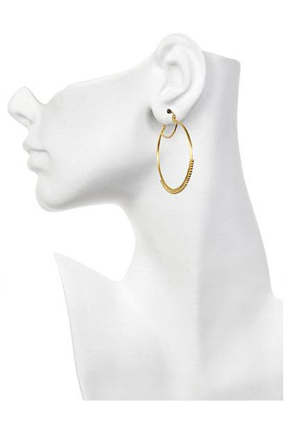 Satya Jewelry Small  Dot Gold Hoops Earring - yApparel