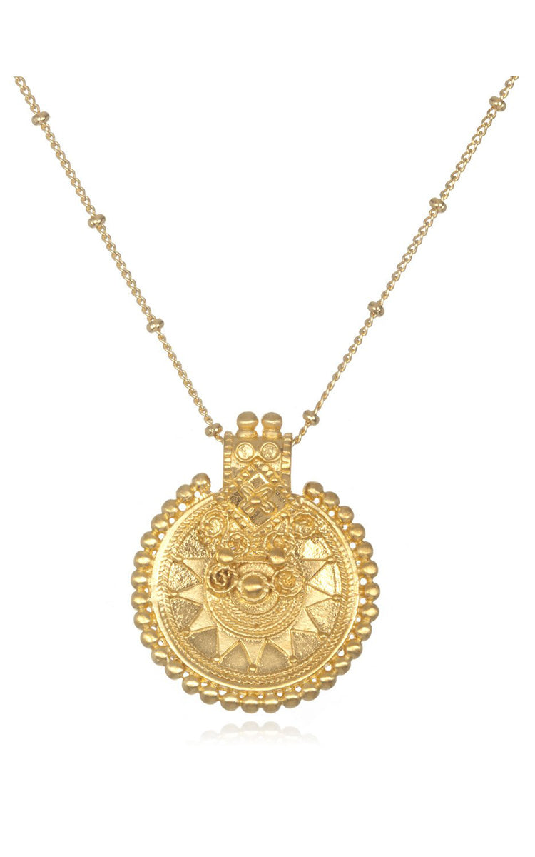 "Satya Jewelry 36"" Gold Mandala Necklace - yApparel"