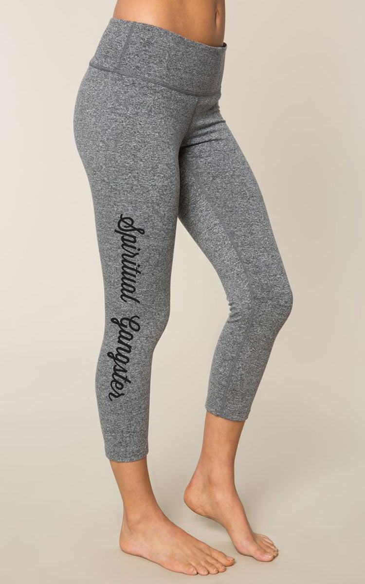 Spiritual Gangster SG Script Power Crop Pants - yApparel