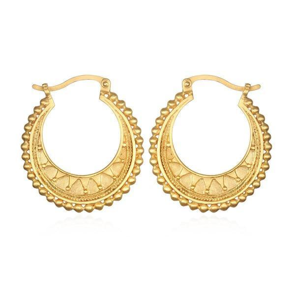 Satya Jewelry Interwoven Gold hoop Earrings - yApparel