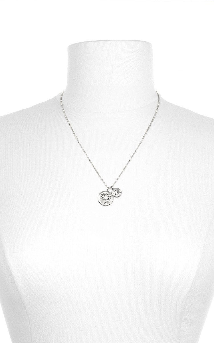 Satya Jewelry Satya Double Lotus Necklace - yApparel