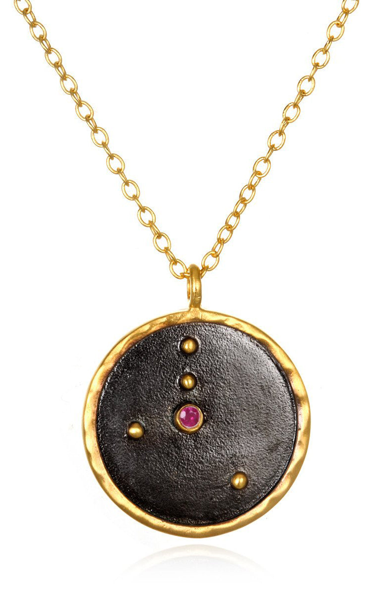 Satya Jewelry Cancer Zodiac - Ruby - yApparel