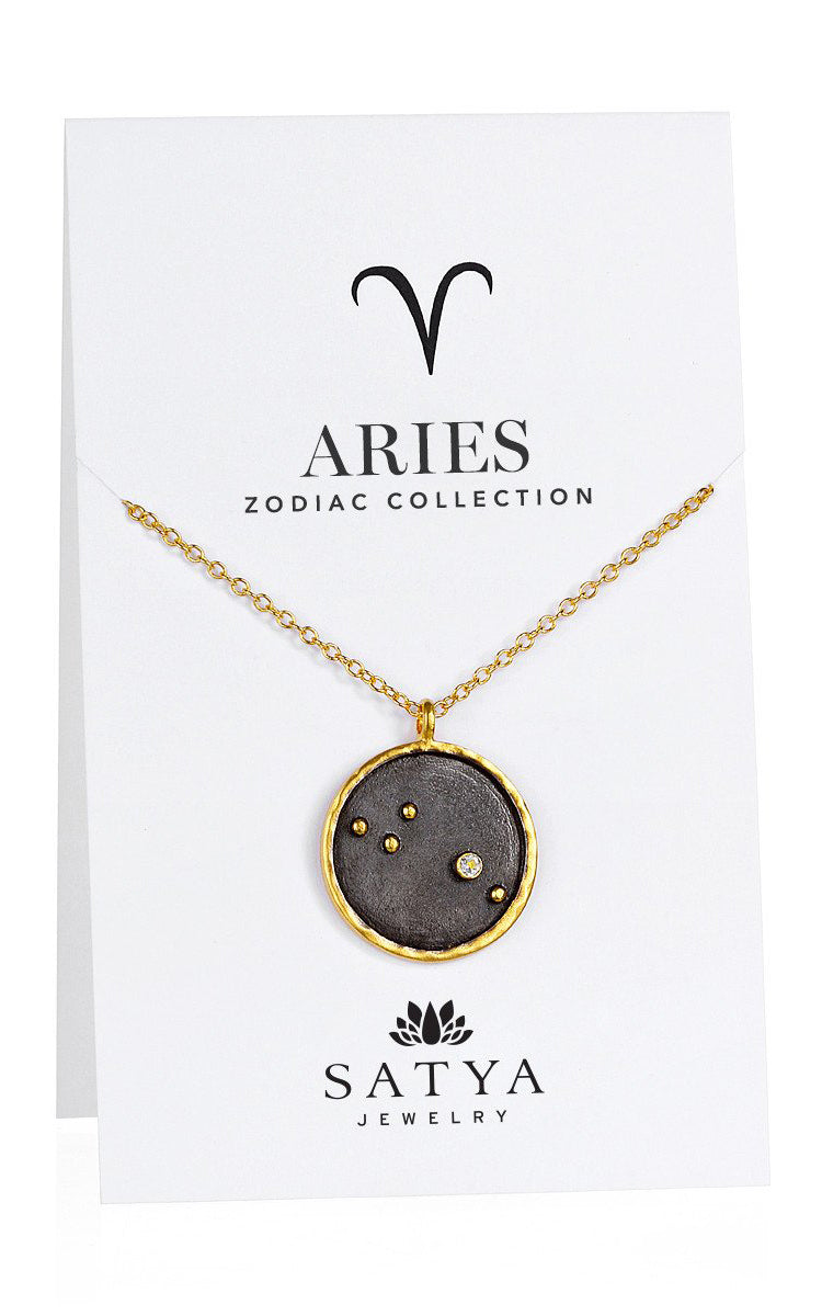 Satya Jewelry Aries Zodiac - Diamond - yApparel